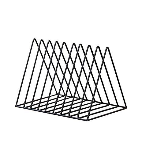 Simple Vintage Triángulo Organizador de escritorio Hierro Arte Escritorio Estante de Almacenamiento...