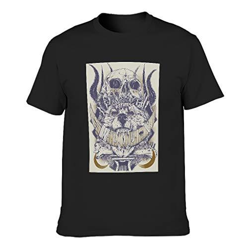 Camiseta de algodón para hombre, diseño de lobo negro S
