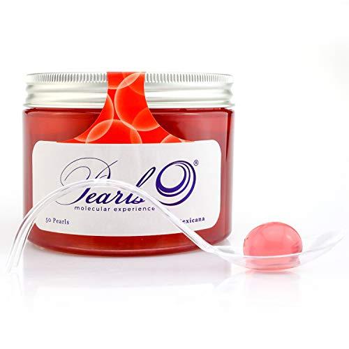 50 Pearls Mexicana - Esferificaciones Premium listas para consumir (50 unidades). La vanguardia de la Gastronomía Gourmet en su mesa, la Coctelería Molecular. Productos Gourmet 2.0.