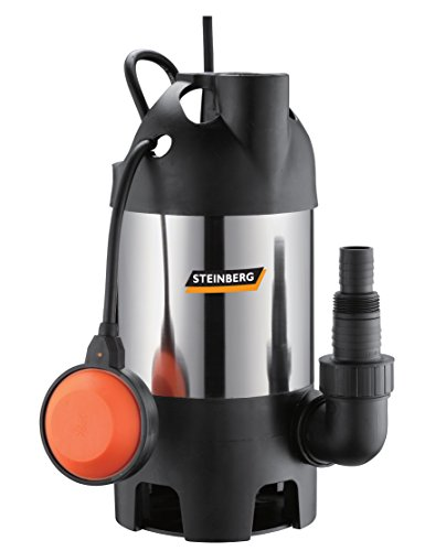 Steinberg 46024 Schmutzwasser Tauchpumpe Edelstahl PZ 600 INOX, bis 8.000 l/h Fördermenge
