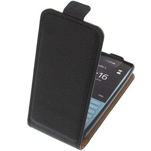 foto-kontor Tasche für Nokia 216 Smartphone Flipstyle Schutz Hülle schwarz