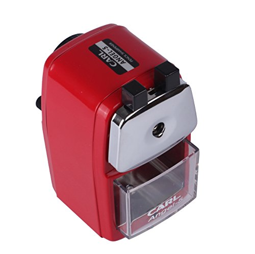 CARL Angel-5 Manual Pencil Sharpener Heavy Duty Quiet for School Home and Office,Red Photo #7