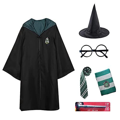 Harry Costume Potter - Juego de 6 piezas de traje de cosplay...