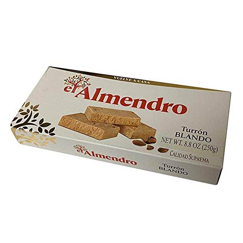 El Almendro Turron Blondo Traditional Soft Spanish Torrone With Roasted Almonds and Honey 200g