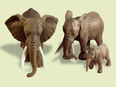 Set Afrikanische Elefantenfamilie Schleich 14322 + 14341 +14342