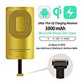 AmyZone Fast QI Receiver Type B Ultra-Slim 5w 1000mAh Wireless Charging Receiver Adapter for HTC ONE Е9/Е9+/X9/Desire 700/DESIRE 10-Meizu M5/M5 Note/M5c/U20-Note/U10 Compatible All Wireless Charger