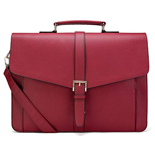 Estarer Womens Laptop Briefcase 15.6' PU Leather Work Satchel Handbag Christmas Gifts for Her
