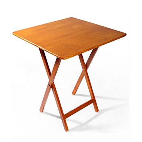 Tableau LHA Table à snacker Pliante Premier Housewares - Bois Naturel (Taille : 60 * 60 * 75cm)