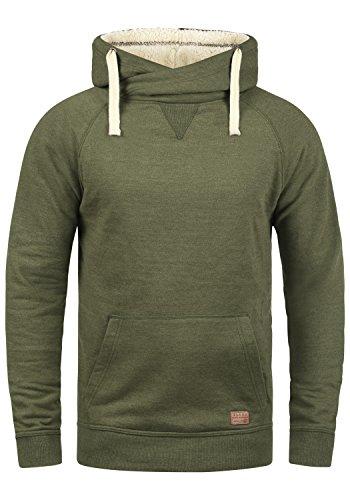 Blend Sales Teddy Herren Winter Pullover Kapuzenpullover Hoodie Sweatshirt mit Teddy-Futter, Größe:M, Farbe:Ivy Green Teddy (77219)