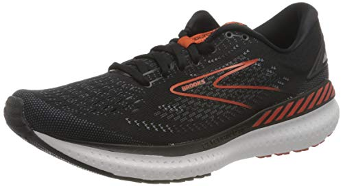 Brooks Glycerin GTS 19, Scarpe da Corsa Uomo, Black/Grey/Red Clay, 44 EU