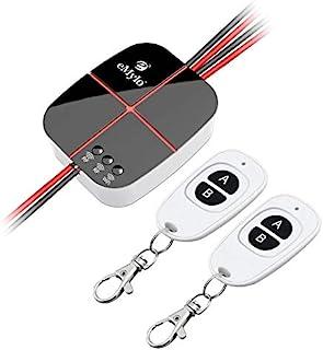 eMylo Smart wifi-schakelaar, 2-kanaals draadloze RF-afstandsbediening, relaisschakelaar, 5 V-24 V, timer, compatibel met A...