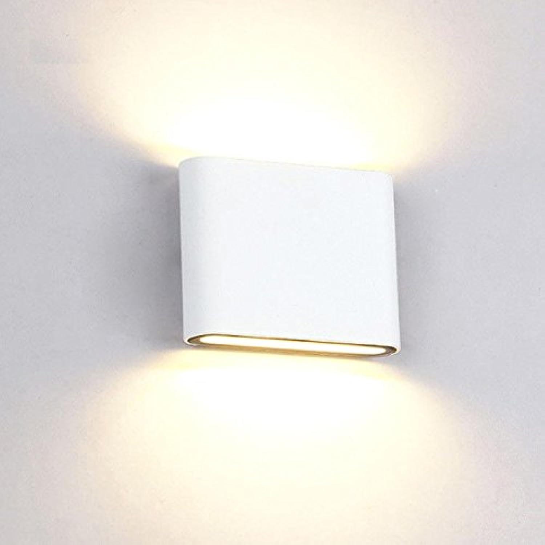 StiefelU LED Auen-Wandleuchten wasserdicht Balkon Bad light off road Treppenlicht slim LED Badezimmer Schlafzimmer Bett Wandleuchten 11,5  11  2,8, weies Oberteil