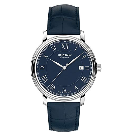 Montblanc Tradition Herren-Armbanduhr 40mm Blau Automatik 117829