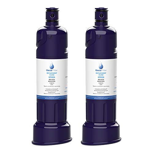 Glacial Pure ICE2 F2WC9I1 Ice Maker Water Filter Compatible with W10565350, W10480323 Water Filter 2pack