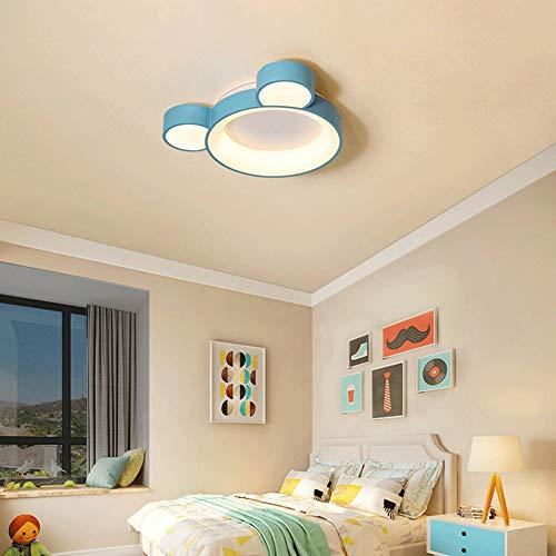 Sunny Lingt Luce a soffitto for camera for bambini LED fumetto creativo Nidi ragazze Principessa blu camera da letto di illuminazione, Soffitto moderna acrilico metallo apparecchio di illuminazione [C