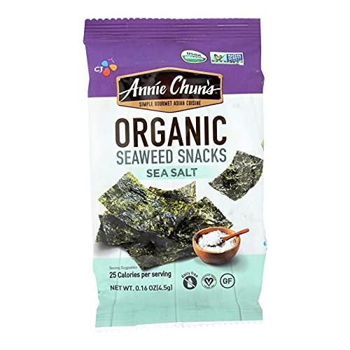 Annie Chun's Seaweed Snack - Sea Salt - Case of 12 - .16 oz.