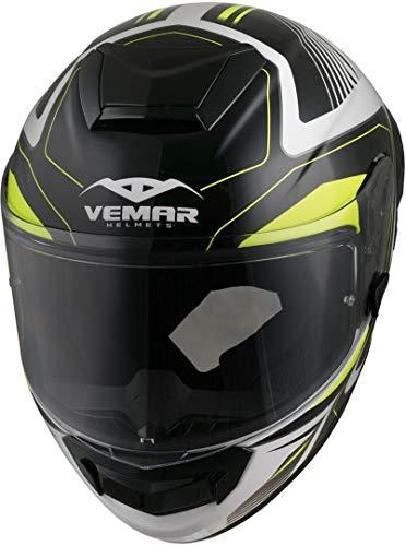 Vemar Hurricane Laser Casco Bianco Nero Giallo S (55 56)
