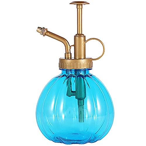Regadera Retro De Vidrio De Cuento De Hadas, Botella Rociadora con Bomba Superior, Apta para Suministros De Herramientas De Interior/Exterior/jardín (Color : Blue)