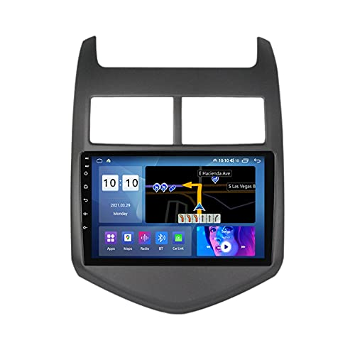 ADMLZQQ para Chevrolet Aveo 2011-2015 Android 10.0 Car Stereo Radio Multimedia MP5 Player, Pantalla Táctil 9 Pulgadas, Bluetooth Carplay FM Am RDS Dual USB DSP Cámara Trasera,M500s 8core 4+64g