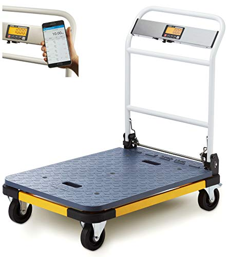 SAEROM Plattformwaage 200 kg x 0,05 kg, 92 x 61 cm, mobile App (nur für Android-Geräte), USB-Port, ohne Drucker