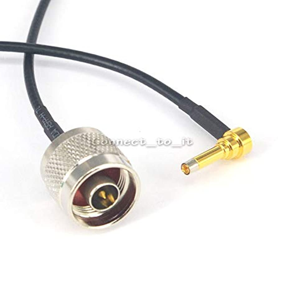 Gimax 10 Pieces RF Coaxial N male Bulkhead to MS156 Male Right Angle Connector USB Modem Adapter Extension Cable 20cm RG174