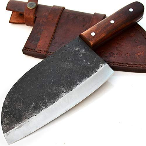 Cuchillo de cocina hecho a mano en acero 440C con recubrimiento en...