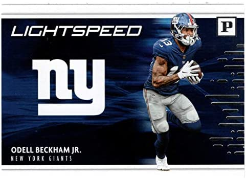 Odell Beckham Jr Football Card 2018 Panini Lightspeed 10 Mint product image