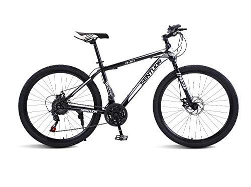 DGAGD Rueda de radios de Bicicleta Ligera de Velocidad Variable de Bicicleta de montaña de 26 Pulgadas-En Blanco y Negro_veinticuatro