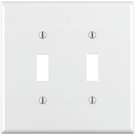 Leviton 80701 W 1 Gang Toggle Device Switch Wallplate Standard Size Thermoplastic Nylon Device Mount White Switch Plates Amazon Com