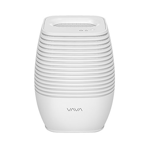 Dehumidifier, VAVA 300ML Compact and Portable Mini Air Dehumidifier with Noiseless Operation and Double Power Option for Damp,Mould,Moisture in Home