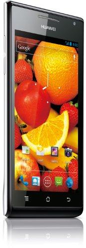Huawei Ascend P1 Smartphone (10,9 cm (4,3 Zoll) Touchscreen, 8 Megapixel Kamera, 4 GB Interner Speicher, Android 4.0) weiß