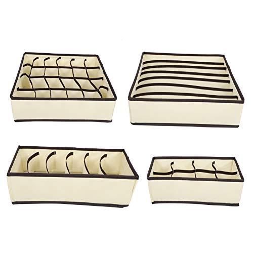 Frutero 4 Piezas De Ropa Interior Calcetines Cajón Armario Caja De Almacenamiento, Caja De Almacenamiento Plegable, Calcetines De Corbata, Toalla