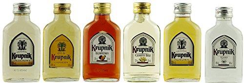 Geschenkset 6 x Mini Krupnik | Geschenkidee | Polnische Wodkas | 6 x 0,1 Liter