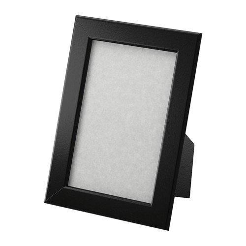 IKEA FISKBO Rahmen in schwarz; (10x15cm), 5 Stück