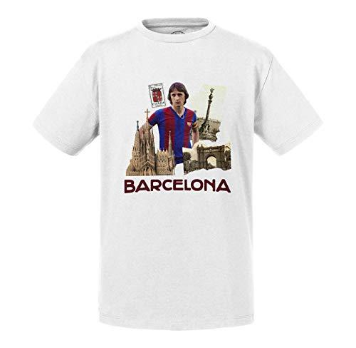 Kinder T-Shirt Barcelona Vintage Collage Stadt Postkarte FC Barcelona