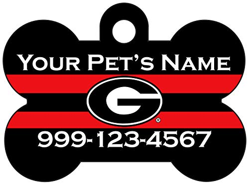 NCAA Dog Tag Pet Id Tag Personalized w/Name & Number (Georgia Bulldogs)