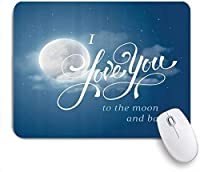 NIESIKKLAマウスパッド 満天の星空とドラマティックなバレンタインのロマンスの間にある夜空を愛しています ゲーミング オフィス最適 高級感 おしゃれ 防水 耐久性が良い 滑り止めゴム底 ゲーミングなど適用 用ノートブックコンピュータマウスマット