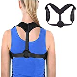 Posture Corrector, Playmont Adjustable Back Brace for Women and Men, Improves Posture