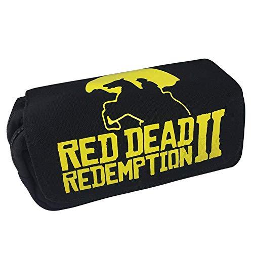 Re'd Dead Re'demption Pencil Bags Canvas Pen Case Kid School Stationery Large Capacity Gift Bag Action Figure Toy Child Gift LATT LIV