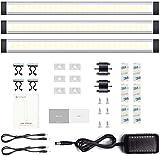 Unterbauleuchte küche LED leiste Dimmbar Schrankleuchte Lichtleiste TECKIN leuchte Schrankbeleuchtung SchrankLicht Küchenbeleuchtung 12W Kabinett Kleiderschrank Waschraum(enthält 3 LEDs)