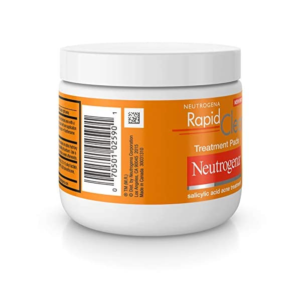 Acne treatment products Neutrogena Rapid Clear Maximum Strength Acne Face Pads with 2% Salicylic Acid Acne