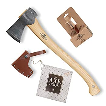Gransfors Bruk Small Forest Axe (420) with Axe Sharpening File (4031) – Bundle (2 Items)