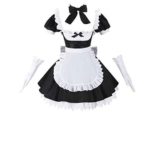Nuoqi Fate/Grand Order FGO Jeanne Anime Cosplay Costume Japanese Maid Dress Outfits (Medium, Black)
