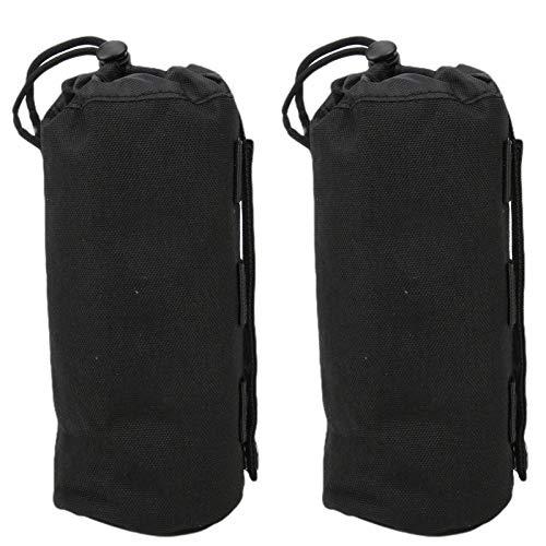 Bolsa portabotellas, con hebilla de presión y cordón, material de poliéster 1000D portátil de alta calidad, bolsa para botella de agua, para gimnasio, escalada, senderismo, ciclismo