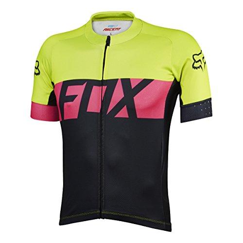 Fox XC de manga corta de jersey Ascent Amarillo Talla L