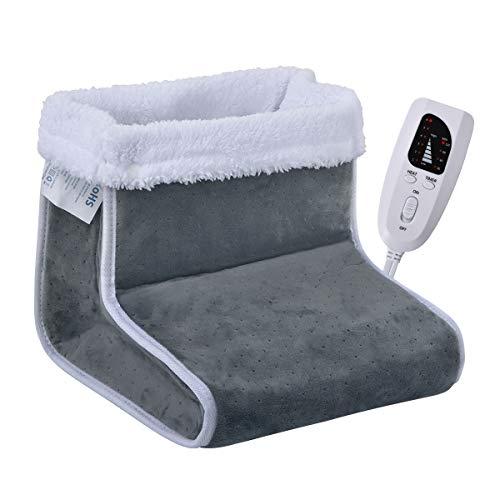 Cigarol Fußwärmer,elektrische Fußwärmer mit 6 Temperaturstufen und Abschaltautomatik, Maschinenwaschbar(grau)