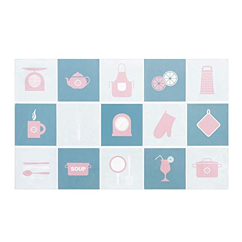 MaikcQ Pegatinas de pared a prueba de aceite, a prueba de aceite y de alta temperatura, pegatinas de pared para el hogar, azulejos de cerámica, utilizados en cocinas y baños (azul)