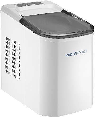 Automatic Self Cleaning Portable Electric Countertop Ice Maker Machine With Handle, 9 Bullet Ice Cubes Ready in 7 minutes, Up to 26lbs in 24hrs WIth Ice Scoop & Basket