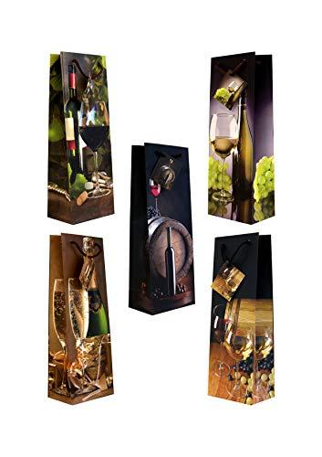 10 Flaschentüten jumbo Sekt/Wein 36 x 13 x 9 cm Geschenktüten Geschenktaschen Geschenkbeutel Taunus Grußkarten Verlag 99-3005