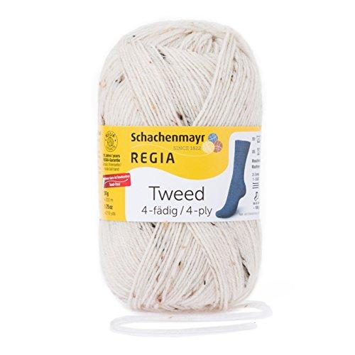 REGIA 4-fädig Tweed 9801271-00002 natur tweed Handstrickgarn, Sockengarn, 50g Knäuel